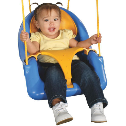 Picture of Swing N Slide Comfy-N-Secure Toddler Blue & Yellow Swing