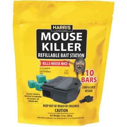 Picture of Harris Mouse Killer Refillable Mouse Bait Station (10-Refill)