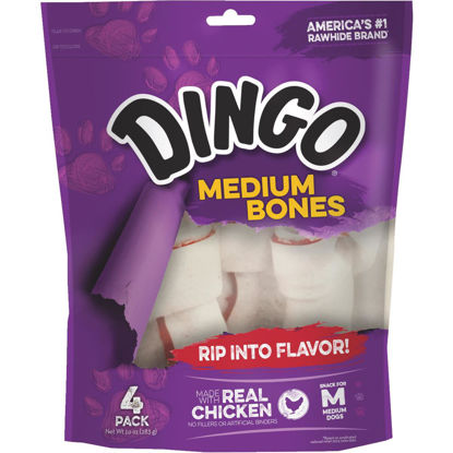 Picture of Dingo Chicken Breast Jerky Medium Bone 10 Oz. Rawhide Chew, 4-Pack