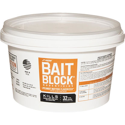 Picture of JT Eaton Bait Block Bar Rat And Mouse Poison (32 per Pail)