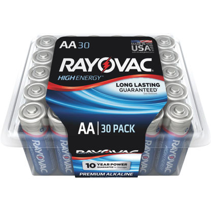 Picture of Rayovac High Energy AA Alkaline Battery (30-Pack)