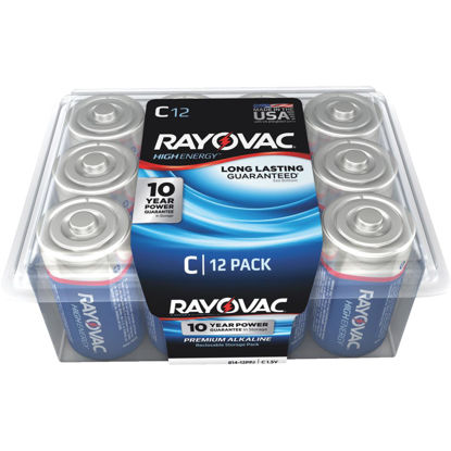 Picture of Rayovac High Energy C Alkaline Battery (12-Pack)