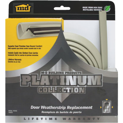 "Picture of M-D 84"" Beige Door Jambs Weatherstrip Replacement"