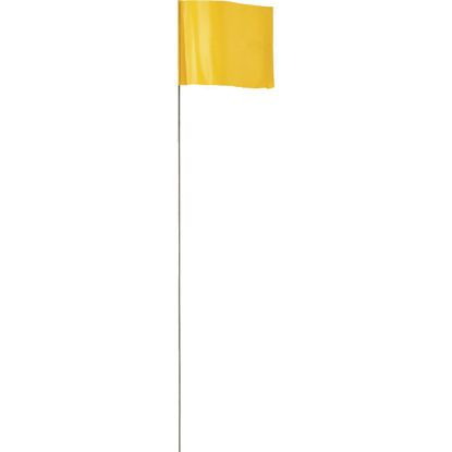 Picture of Empire 21 In. Steel Staff Yellow Marking Flags
