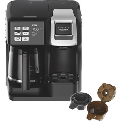 Picture of Hamilton Beach FlexBrew Black 12 Cup 2-Way Coffee Brewer