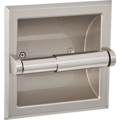 Picture of Home Impressions Aria Brushed Nickel Recessed Toilet Paper Holder