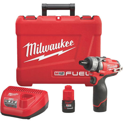 Picture of Milwaukee M12 FUEL 12-Volt Lithium-Ion Brushless 1/4 In. Cordless Screwdriver Kit