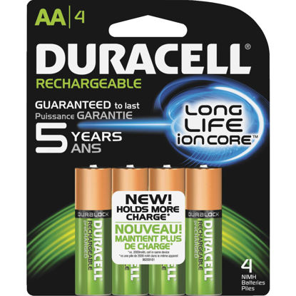 Picture of Duracell AA NiMH Rechargeable Battery (4-Pack)