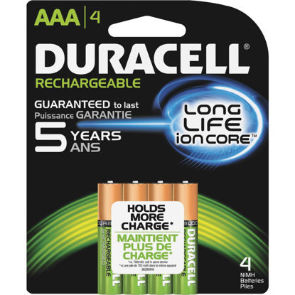 Picture of Duracell AAA NiMH Rechargeable Battery (4-Pack)