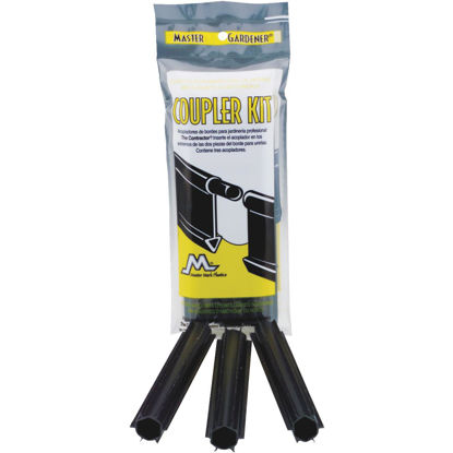 Picture of Master Mark Master Gardener Straight Black Plastic Contractor Lawn Edging Coupler (3-Pack)