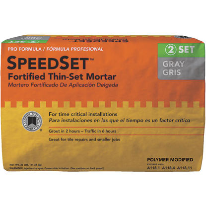 Picture of Custom Building Products 25 Lb. Gray SpeedSet Fortified Thin-Set Mortar