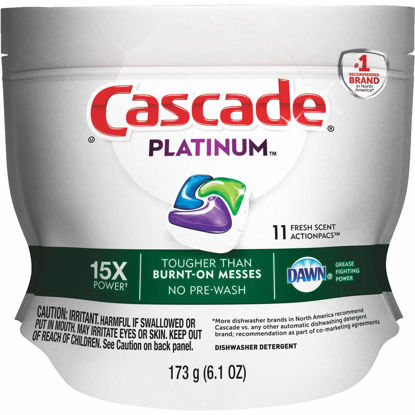Picture of Cascade Platinum Action Pacs Fresh Dishwasher Detergent Tabs, 11 Ct.