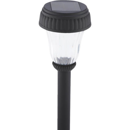 Picture of Outdoor Expressions Black 2.10 Lumens Plastic Solar Path Light