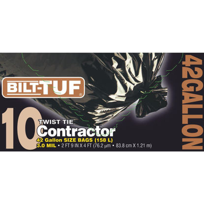 Picture of Bilt-Tuf 42 Gal. Contractor Black Trash Bag (10-Count)