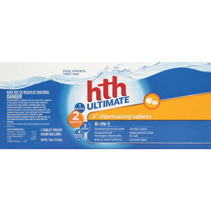 Picture of HTH 3 In. 3 Lb. Ultimate Chlorine Tablet