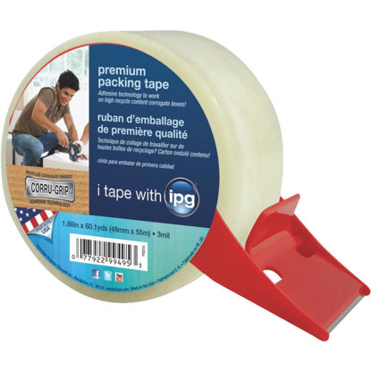 Picture of IPG 1.88 In. X 60.1 Yd. Premium Clear Packing Tape with Dispenser