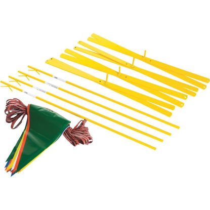 Picture of Acro 42 In. Steel Staff Yellow Marking Flags
