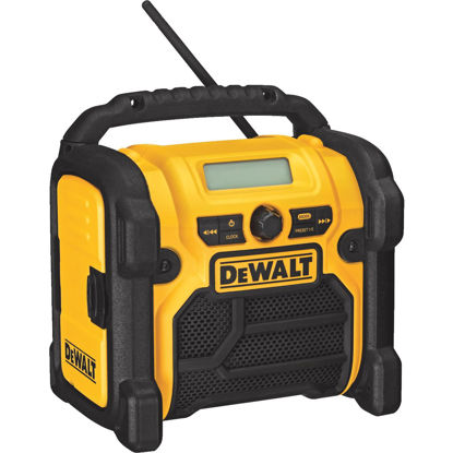 Picture of DeWalt 18/20/12 Volt Compact Nickel Cadmium/Lithium-Ion Cordless Jobsite Radio (Bare Tool)