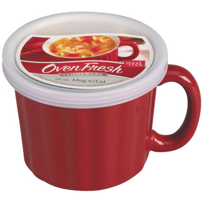 Picture of Good Cook 18 Oz. Red Soup Crock