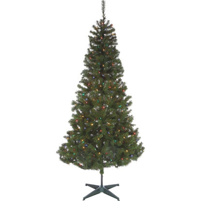 Picture of Sterling 7 Ft. Cumberland 300-Bulb Multi Incandescent Prelit Artificial Christmas Tree