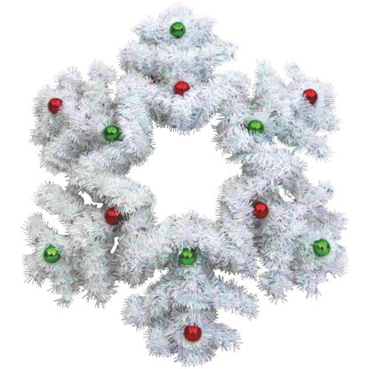 Picture of F C Young 18 In. Tinsel Snowflake Holiday Decoration