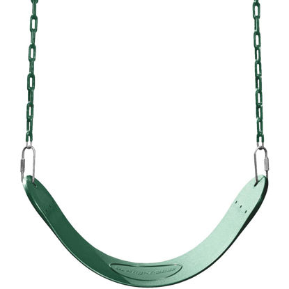 Picture of Swing N Slide Curved Oval Green Swing Seat