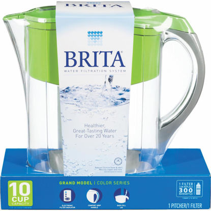 Picture of Brita Grand 10-Cup Water Filter Pitcher, Green