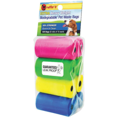 Picture of Ruffin' it 11 In. W. x 13.78 In. H. Multi-Color Pet Waste Bag (120-Pack)