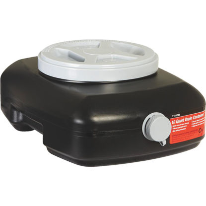 Picture of Hopkins Flotool 10 Qt Black Polyethylene Oil Drain Pan