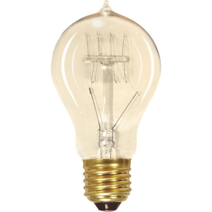 Picture of Satco 60W Clear Medium Edison A19 Incandescent Vintage Light Bulb