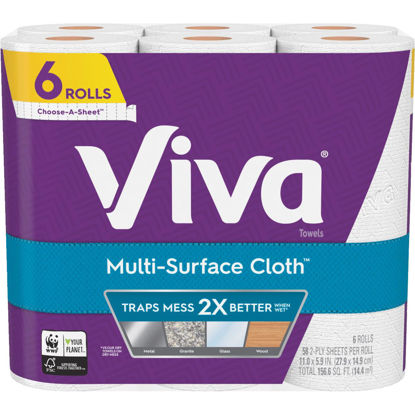 Picture of Viva Multi-Surface Cloth Paper Towel (6 Roll)