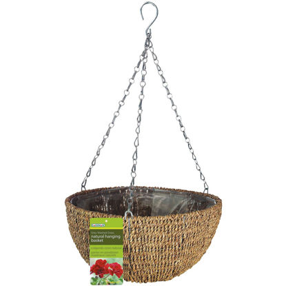 Picture of Gardman 14 In. Natural Rope Hanging Plant Basket