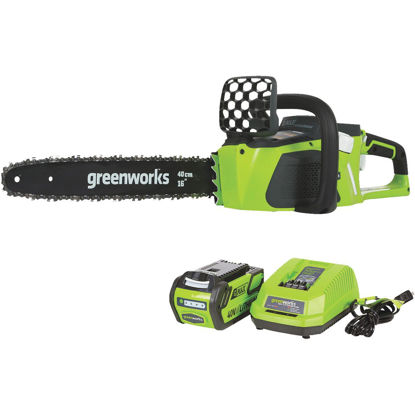 Picture of Greenworks G-MAX 16 In. 40V Lithium Ion Brushless Cordless Chainsaw