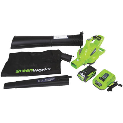 Picture of Greenworks G-Max 185 MPH 40V Lithium Ion Cordless Blower/Vacuum
