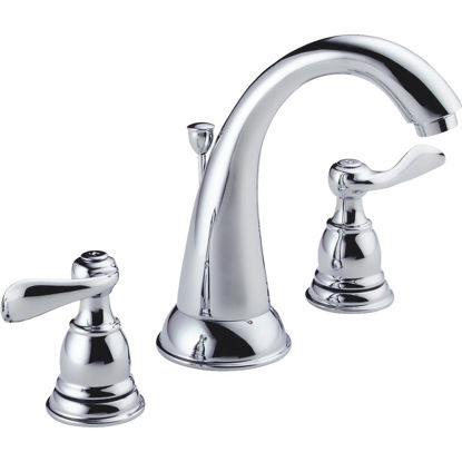 Picture of Delta Windmere Chrome 2-Handle Lever 6 In. to 16 In. Widespread Bathroom Faucet with Pop-Up