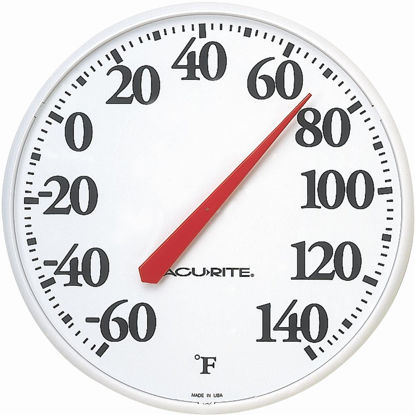 "Picture of Acurite 12.5"" Dia Plastic Dial Indoor & Outdoor Thermometer"