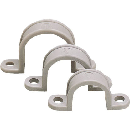 Picture of Gardner Bender 3/4 In. Non-Corrosive Plastic/Schedule 40 PVC/Copper Conduit Strap (20-Pack)