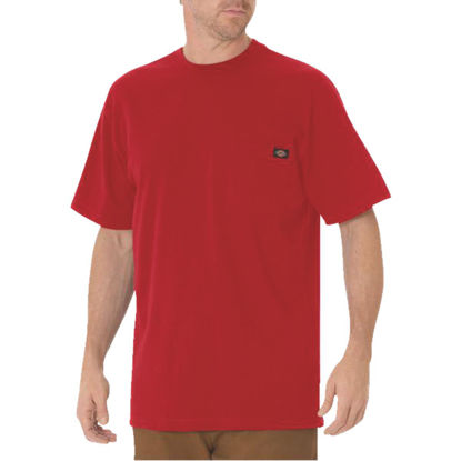 Picture of Dickies Large English Red Short Sleeve Men's Shirt