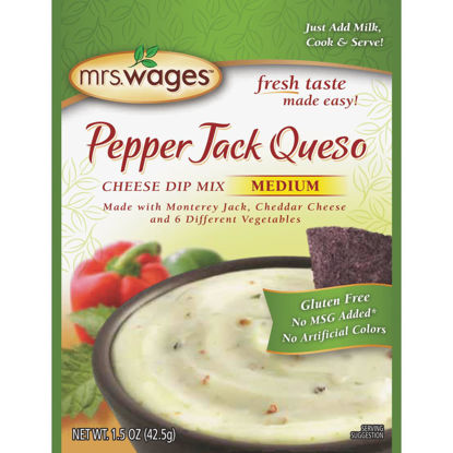Picture of Mrs. Wages 1.5 Oz. Pepper Jack Queso Cheese Dip Mix