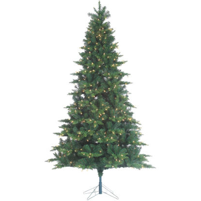 Picture of Gerson 7.5 Ft. Longwood Pine 600-Bulb Clear Incandescent Prelit Artificial Christmas Tree