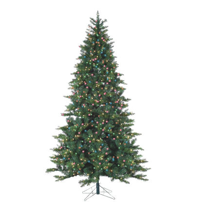 Picture of Gerson 7.5 Ft. Longwood Pine 600-Bulb Multi Incandescent Prelit Artificial Christmas Tree
