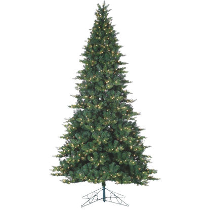 Picture of Gerson 9 Ft. Longwood Pine 900-Bulb Clear Incandescent Prelit Artificial Christmas Tree