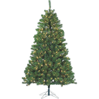 Picture of Gerson 7 Ft. Montana Pine 500-Bulb Clear Incandescent Prelit Artificial Christmas Tree