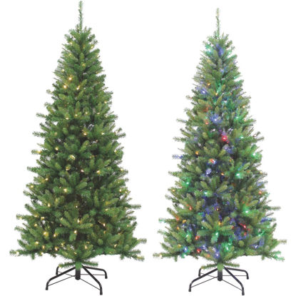 Picture of Gerson 7 Ft. Ozark Pine 230-Bulb Color Changing LED Prelit Artificial Christmas Tree
