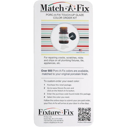 Picture of Fixture-Fix Match-A-Fix Porcelain Finish Color Match