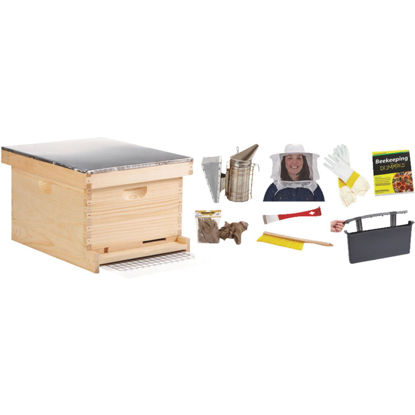 Picture of Little Giant 9.125 In. L. x 9.5 In. D. Assembled Medium Beehive, 10 Frames