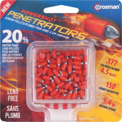 Picture of Crosman PowerShot Penetrators .177 Cal. Pointed 5.4 Grain Pellet Ammunition