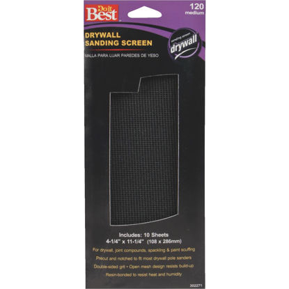 Picture of Do it Best 120 Grit 4-1/4 In. x 11-1/4 In. Drywall Sanding Screen (10-Pack)