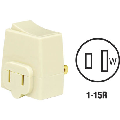 Picture of Leviton Ivory 13A Plug-In Switch Adapter