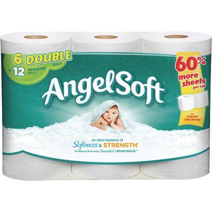 Picture of Angel Soft Toilet Paper (6 Double Rolls)